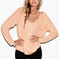 Long Sleeve V-Neck Raglan Tee