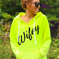 Casual Letter Print Hooded Jacket Letter 13178