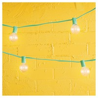 Room Essentials™ 25ct Clear Globe Lights Turquoise String
