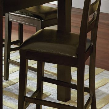 Amini Transitional Ladder Counter Chair (Set Of 2) Espresso