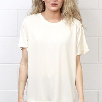 Basic Short Sleeve Modal Tee {Off White}