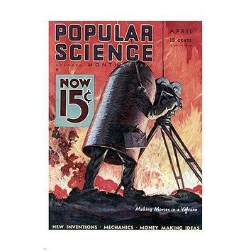 vintage POPULAR SCIENCE magazine cover poster COLLECTORS EDUCATIONAL 24X36
