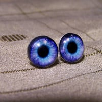 Behind Blue Eyes  pictorial earrings by MelbourneGems on Etsy