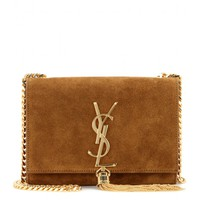 Classic Small Monogram suede shoulder bag