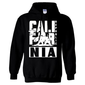 California Republic White Retro Sweatshirt Hoodie