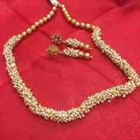 Traditional Indian Style Chandani Pearl Necklace