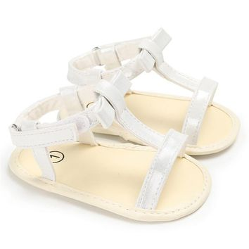 Newborn Sandals for Girls Baby Sweet Princess Crib Shoes Casual Fashion Soft Sole Anti