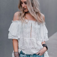 Del Mar Off The Shoulder Blouse