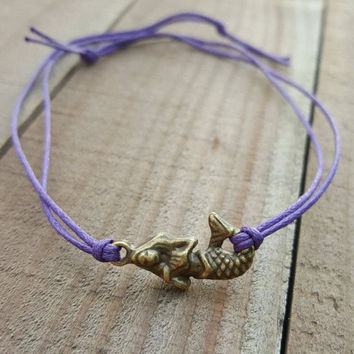 Mermaid Bracelet, Mermaid Jewelry, Be A Mermaid Gift, Mermaid Shower Favor, Mermaid Wish Bracelet, Mermaid Friendship Bracelet, Mermaid