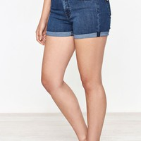 PacSun Jade Blue Push Up Denim Shorts at PacSun.com