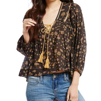 Free People Never A Dull Moment Blouse | Dillards