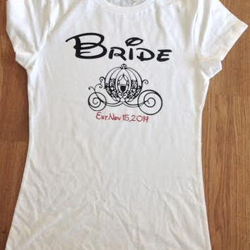 Free/Fast  Shipping Disney Bride Tank Top or T Shirt