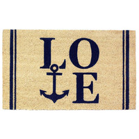 Charming Costal Love Anchor Seaside Doormat Rug Welcome Mat