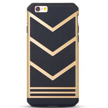 iPhone 6s plus Case,iPhone 6 plus Case,by Ailun,Slip-Proof Rugged Bumper,Non-Gap Fit,Shock-Absorption&Anti-Scratch,Fingerprint&Oil Stain,Protective&Stylish,Ultra Slim Back Cover[Gold Black]