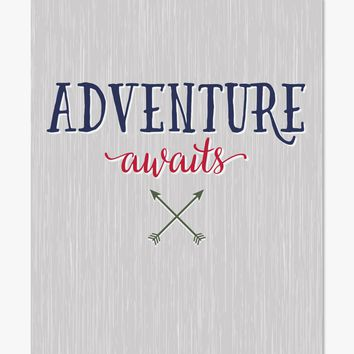 Art Print: Adventure Awaits