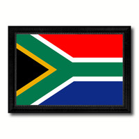 South Africa Country Flag Canvas Print with Black Picture Frame Home Decor Gifts Wall Art Decoration Gift Ideas