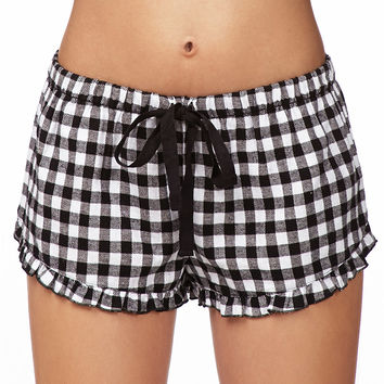 Grunge Flannel PJ Shorts