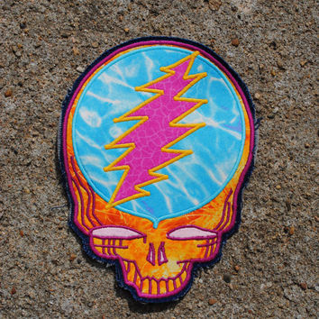 Grateful Dead Patch Stealie patch Steal Your Face Patch Handmade Applique Patch smaller size