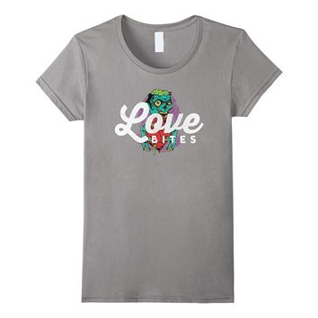 Love Bites Funny Cute Holiday Zombie Valentines Day T-Shirt