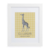 Sweet Giraffe Framed Wall Print