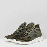 Certified London Knitted Trainers In Khaki at asos.com