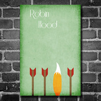 Disney Art Robin Hood Poster movie poster disney by Harshness