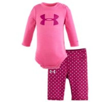 Under Armour Girls Newborn UA Dot Icon Bodysuit Set