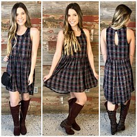 Prep School Plaid Dress