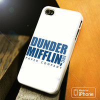 Dunder Mifflin The Office logo Blue White iPhone 4(S),5(S),5C,SE,6(S),6(S) Plus Case