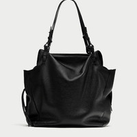 LEATHER TOTE BAG WITH THIN STRAPS DETAILS