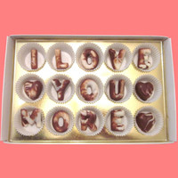 I Love You More Large Swirl Chocolate Letters