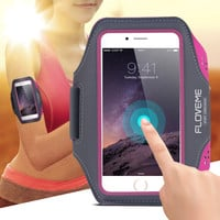 Floveme Sport Arm Band Case For iPhone 6 6S / Plus 5s SE Gym Waterproof For Samsung Galaxy S5 S6/ S6Edge/ S7 Leather Phone Cover