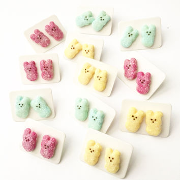 Marshmallow Bunny Earrings