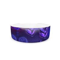 "Marianna Tankelevich ""Summer Night"" Purple Lavender Pet Bowl"