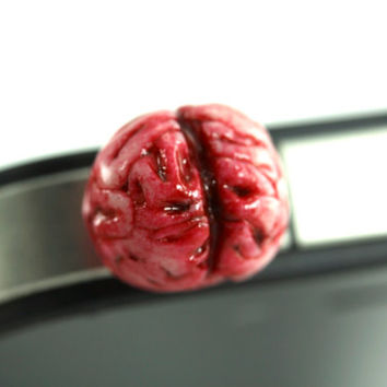Zombie Brain Phone Plug, Mobile Accessories, Dust Plug, Brainy Geekery, Cell Phone Jack Charms