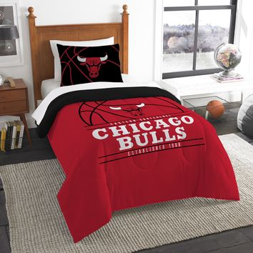 "Bulls OFFICIAL National Basketball Association, Bedding, """"Reverse Slam"""" Printed Twin Comforter (64""""x 86"""") & 1 Sham (24""""x 30"""") Set  by The Northwest Company"