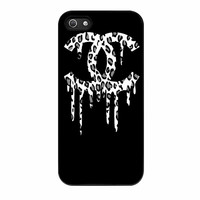 Chanel Drip Leopard White iPhone 5s Case