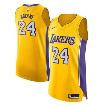 Kobe Bryant Los Angeles Lakers # 24 Nike Yellow Authentic Icon Edition Jersey - Best Deal Online