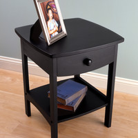 Curved End / Night Table with Drawers