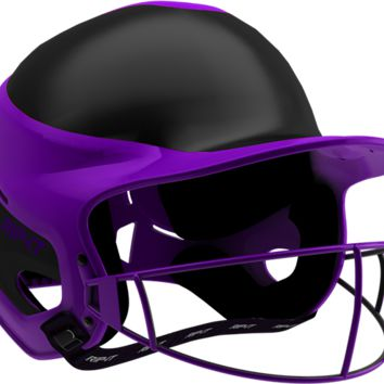 Rip-It Softball Vision Pro Helmet Away - Black Purple