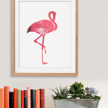 60% OFF SALE Watercolor painting, watercolor birds, flamingo print, bird painting, flamingos, watercolor flamingo, flamingo art