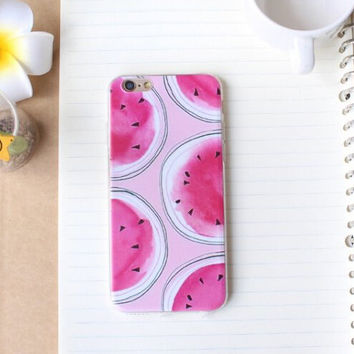Summer Watermelon Case Ultrathin Cover for iPhone7 se 5s 6 6s Plus + Gift Box