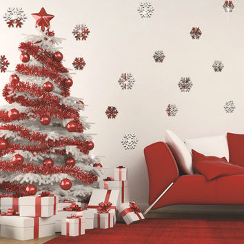 Christmas Decoration Stickers 3D Mirror [4923114436]