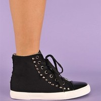 Candice Stud Sneakers - Black