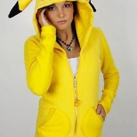 pokemon fleece hoodie coat glamfoxx