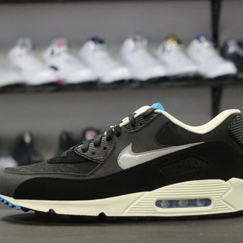 spbest Nike Air Max 90 Blk/Blue Suede