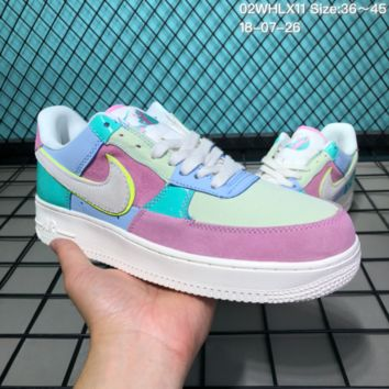 HCXX N173 Nike Air Force 1 Low Easter Egg Cowhide Canvas Fashion Causal Running Shoes