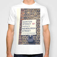 London street sign T-shirt by Architect´s Eye | Society6