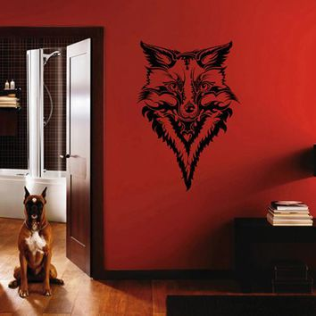 ik1825 Wall Decal Sticker fox jackal animal tattoo style bedroom living room