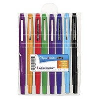 Paper Mate® Point Guard Flair Medium Sized Porous Point Stick Pen - Assorted (Set of 8)